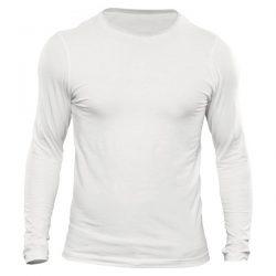 خرید تیشرت مردانه سفید آستین بلند
