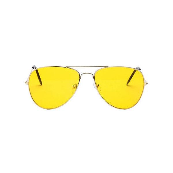 خرید عینک شب مردانه ارزان طلایی مدل Night View